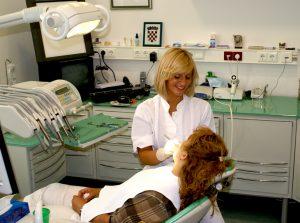 Dentist in progress